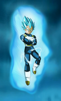 SSGSS Vegeta Arms Crossed Aura V2 BG by DragonBallAffinity