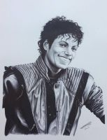 Michael Jackson Thriller in ballpoint pen. by JonARTon
