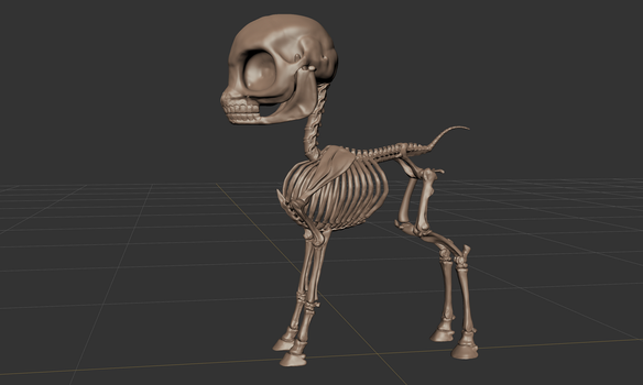 FO:E Skeleton Sculpt by Poninnahka