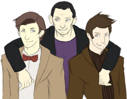 The 3 Doctors by Hokutochan15