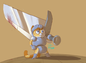 Knight Kittypaws II the dragon slayer by IvaTheHuman