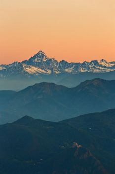Mount Viso and Sacra at sunset by morglin