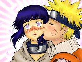 NaruHina-COLORED by kumomeru