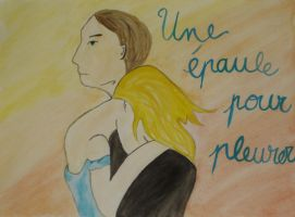 A shoulder to cry on (watercolor) by mari6s