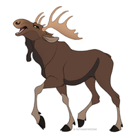 Moose by faithandfreedom