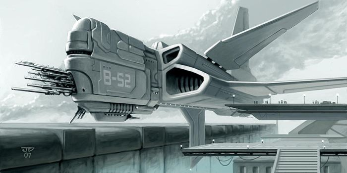 Space Ship by hunterkiller
