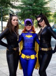 Wonder Twin Kittehs and a Bat by BenaeQuee