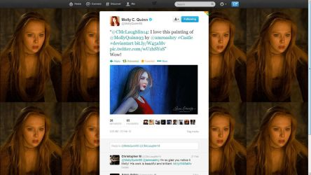 Molly Quinn's comment by artistamroashry