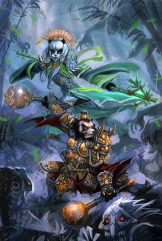 warcraft of Pandaria by breath-art