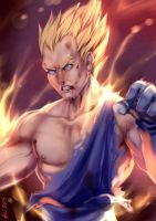 Vegeta Super Saiyajin by alanscampos