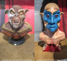 Ork and Djin Busts by RaptorArts