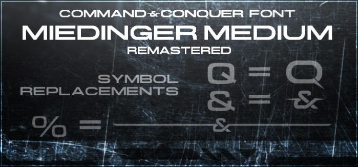 Command and Conquer - logo font by Dexistor371