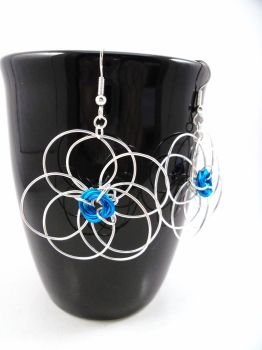 Mega Daisy Wire Wrapped Earrings by Jan by SerenityinChains
