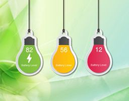 Hanging Battery Bulb for xwidget by Jimking