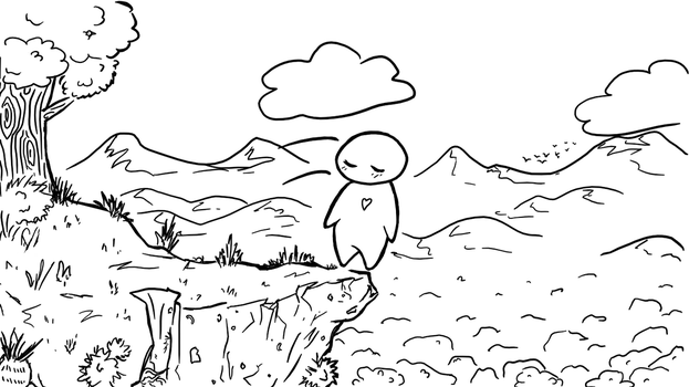 Falling (Free Coloring Page!) by SpookyCandyTheater