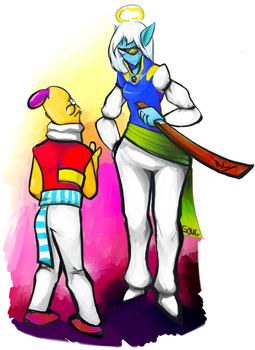 Bailey and Umbriel - Disciplinary Action Needed by AnimeClipart