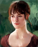 Keira Knightly Painting Sketch Part:1 by Brashen