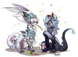 [Commission] Happy Birthday to you! by Moenkin