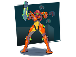 Metroid, from the game Metroid by GardedroidsHotArt