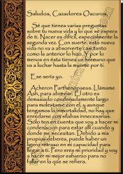 Pag 1 Carta Bienvenida de Aqueron Parthenopaeus by Dark-Hunter-Spain