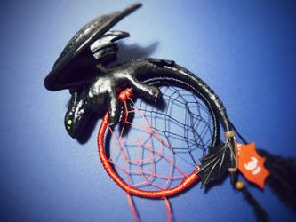 Dreamcatcher Toothless (How To Train Your Dragon) by Hi-no-okami