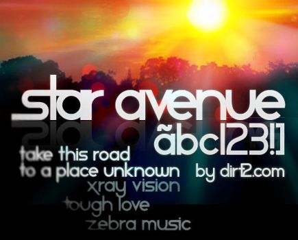 Star Avenue Free Font by KeepWaiting