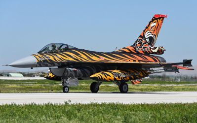 F16C Fighter Jet Aircraft with Tiger Design by ROGUE-RATTLESNAKE