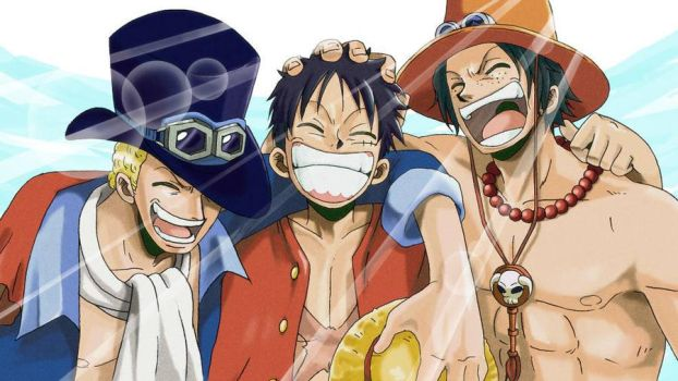 Sabo, Luffy ,  Ace :3 by xBooney