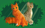 Squirrelflight And Leafpool by silvernheart