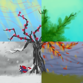 The four season by CombotheBeehen