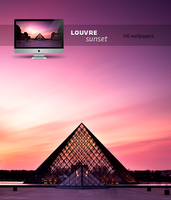 louvre sunset HD wallpaper by LeMex