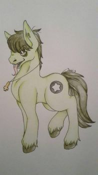 Murdoc as a pony by Jasi-3