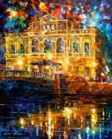 Windows With Memories by Leonid Afremov by Leonidafremov