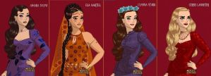 ASOIAF Ashara, Elia, Lyanna and Cersei by LadyRaw90