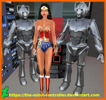 Wonder Woman Captured By Cybermen by The-Mind-Controller
