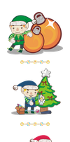Free holidays elves by Kna