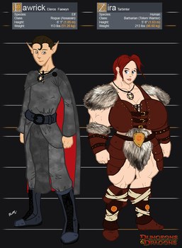 Lawrick and Zira - D and D by SimonLMoore