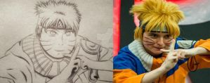 Naruto Uzumaki Cosplay Sketch/Drawing by NicholiDeSchidor