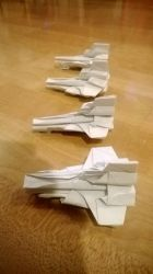 Origami Original BSG Colonial Vipers by taerkitty