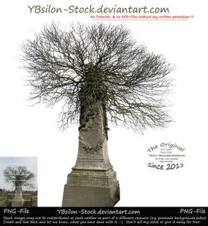 Wintertree on Gravestone by YBsilon-Stock by YBsilon-Stock
