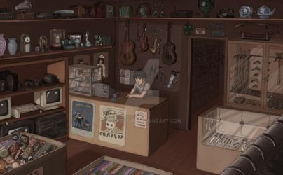 Jupiter's Pawn Shop by reapersun