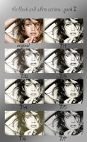 the black and white actions pack I by emma011