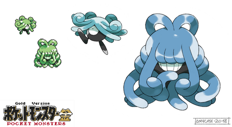 Pokemon Gold Beta - Tangrowth and Tangela Baby by Tomycase