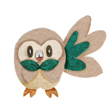 Rowlet by Pannicotta