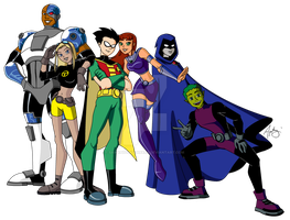 Teen Titans - MS Paint by samapitongzabala