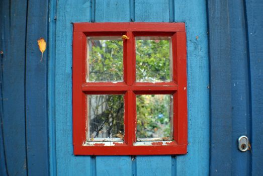 red window, blue wall. by lyrusa