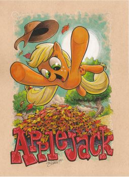 Applejack pin up by andypriceart