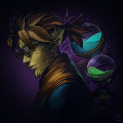 Guild Wars 2 Portrait Commissions - Cog by jylgeartooth