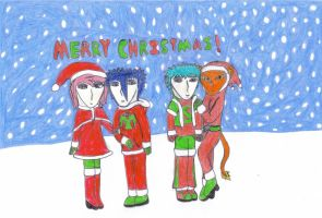 Merry Christmas 2009 by OneWingedDaemon