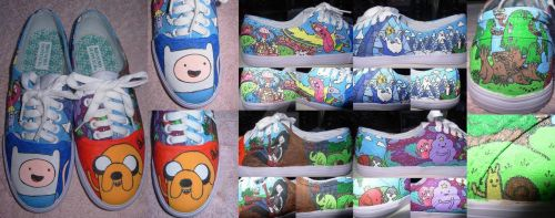 My Adventure Time Shoes by Invader-Valo